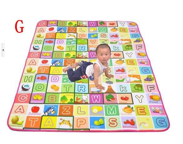 Freeshipping,New Play Mat Baby /Educational Crawl Pad ,Play+Learning+Safety Mats,Kids Climb Blanket,1.5x1.8m Game Carpet 016(China (Mainland))