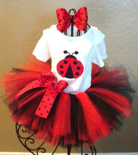 Retail Girl Sets Lady Bug T-shirts+2 Layer TUTU Skirt+Headband Stage Performance Clothing 2pcs Fashion Outfits 1-8T 13786(China (Mainland))