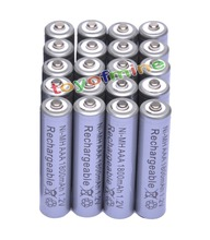 20x AAA 1800mAh 3A 1.2 V Ni-MH Grey Rechargeable Battery Cell for MP3 RC Toys(China (Mainland))