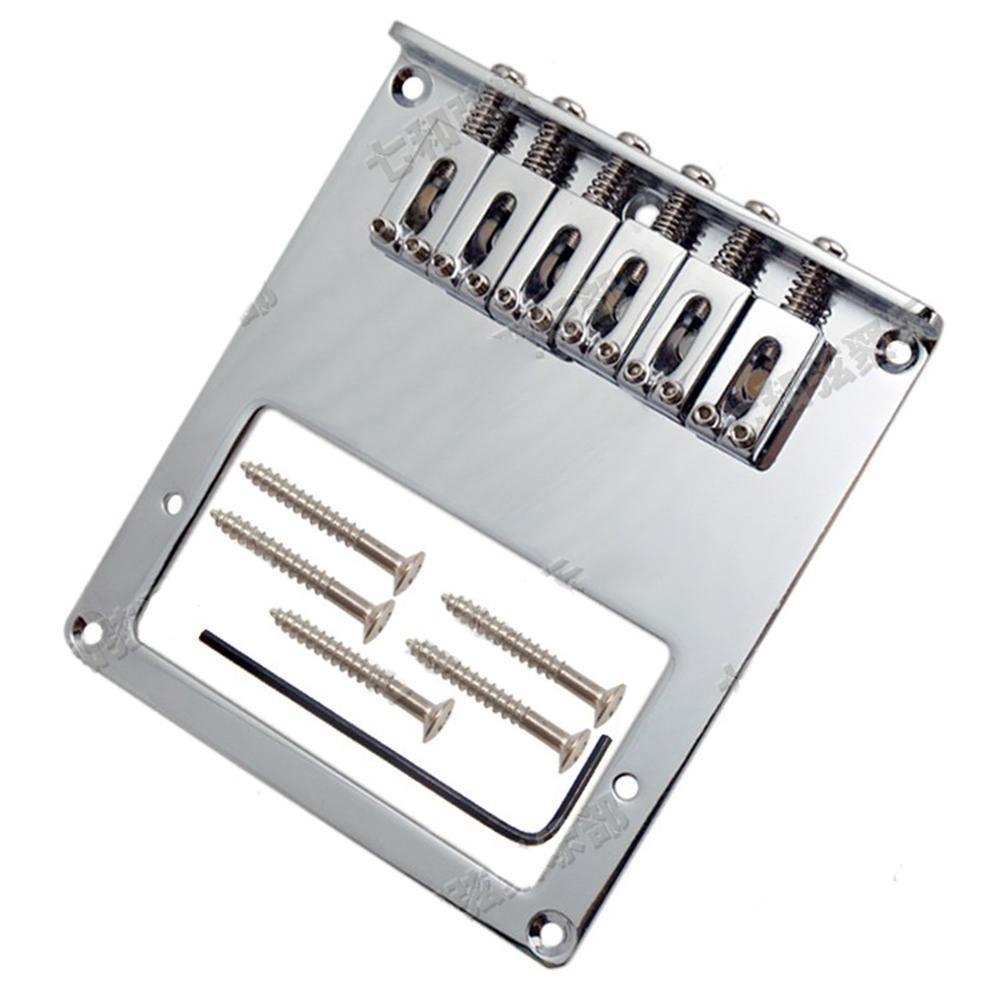 Hot Nieuwe Hoogwaardige Chrome 6 Zadel String Bridge + Pickup voor ...