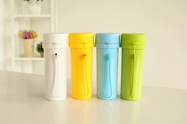 Free shipping hot sale mug water cup insulated office bottle PP bottle 480ml
