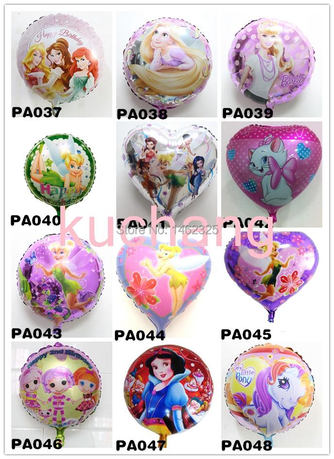 Wholesale!50pcs three princess balloon tinker bell violetta tinkerbell foil balloons snow white metallic foil decoration globos(China (Mainland))