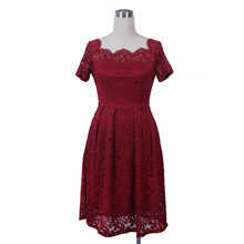 Robe Femme Sexy Vintage Floral Lace Dress Women Elegant Long Sleeve 50s 60s Retro Style Rockabilly Swing Wedding Party Dress(China)