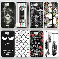 Case For Huawei Y5C Colorful Printing Drawing Plastic Hard Cover for Huawei Y541 Fashion Matte Transparent Phone Cases