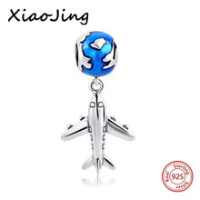 Buy Authentic 925 silver Bead Cute Plane Pendant Beads Fit Charm Pandora Bracelet & Bangle DIY Fashion Sterling-Silver-jewelry for $6.77 in AliExpress store