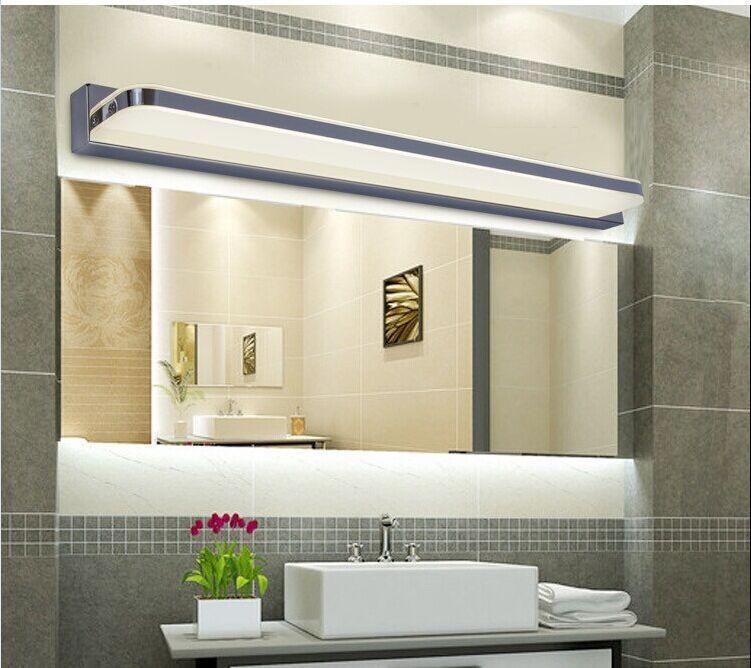 Mirror light led bathroom wall lamp mirror glass waterproof anti-fog brief modern stainless steel mirror cabinet mirror light<br><br>Aliexpress