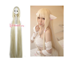 Free Shipping Chobits Chii 150cm Long Straight 10 Colors Synthetic Anime Cosplay Wig(China (Mainland))
