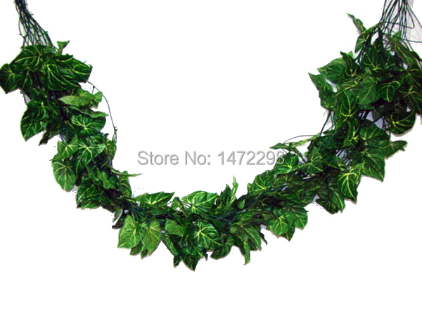 65FEETS ARTIFICIAL GREEN LEAVIES GARLAND FAKE PLANT IVY FAUX FRUIT VINE LEAF WEDDING Decoration 1 - Beautify you & your house store