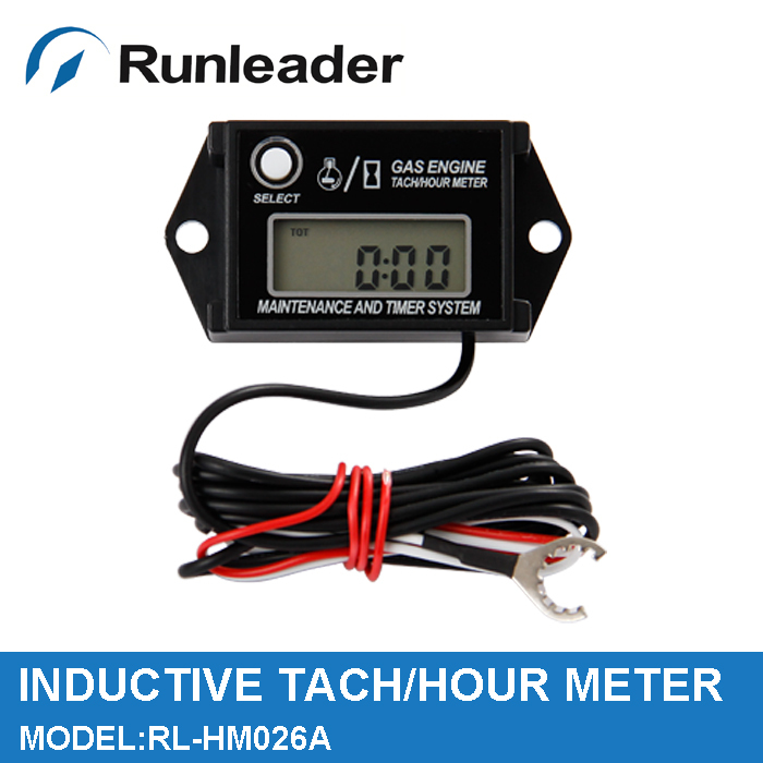 Waterproof inductive Tach Hour Meter RPM Meter for gas petrol engine motocross Snowmobile ATV Generator Motorcycle jet truck MX(China (Mainland))