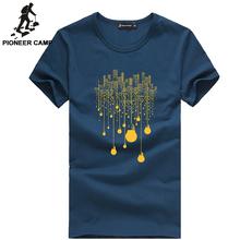 Pioneer camp spedizione gratuita! 2016 di nuovo modo di estate mens t shirt fitness o-collo del cotone plus size confortevole t-shirt uomo abbigliamento(China (Mainland))