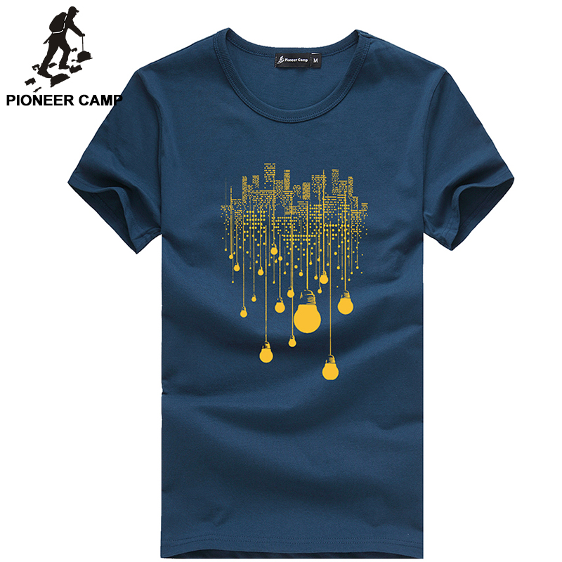 Pioneer Camp Free Shipping 2016 New Fashion Summer Mens T
