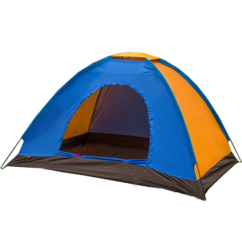 Double outdoor camping tent single couple spell color waterproof beach tent camping tent(China (Mainland))