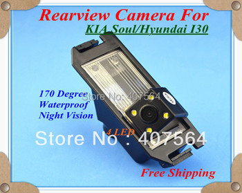 Factory selling, CCD with 4LED backup Camera rearview parking for  KIA Soul / Hyundai i30