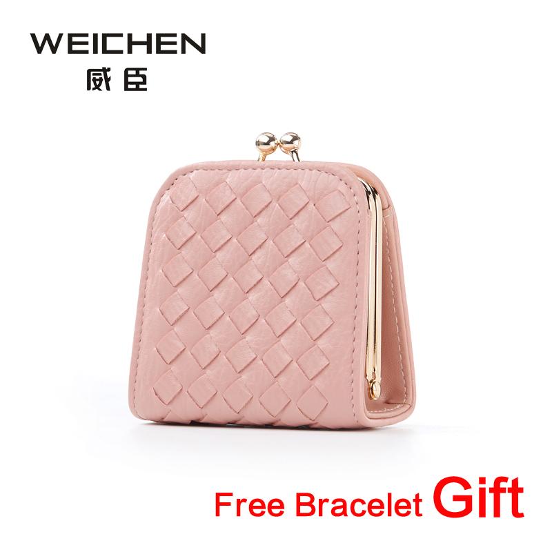 2016 New Mini Change Coin Purse PU Knitting Women Wallet Clutch Female Wallets Card Holder Hasp Feminina Carteira Handbag(China (Mainland))