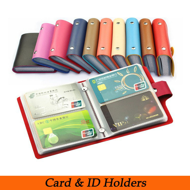 Free shipping Fashion Business Credit Card Holder Bags Leather Strap Buckle Bank Card Bag Card Case ID Holders Card Wallets(China (Mainland))