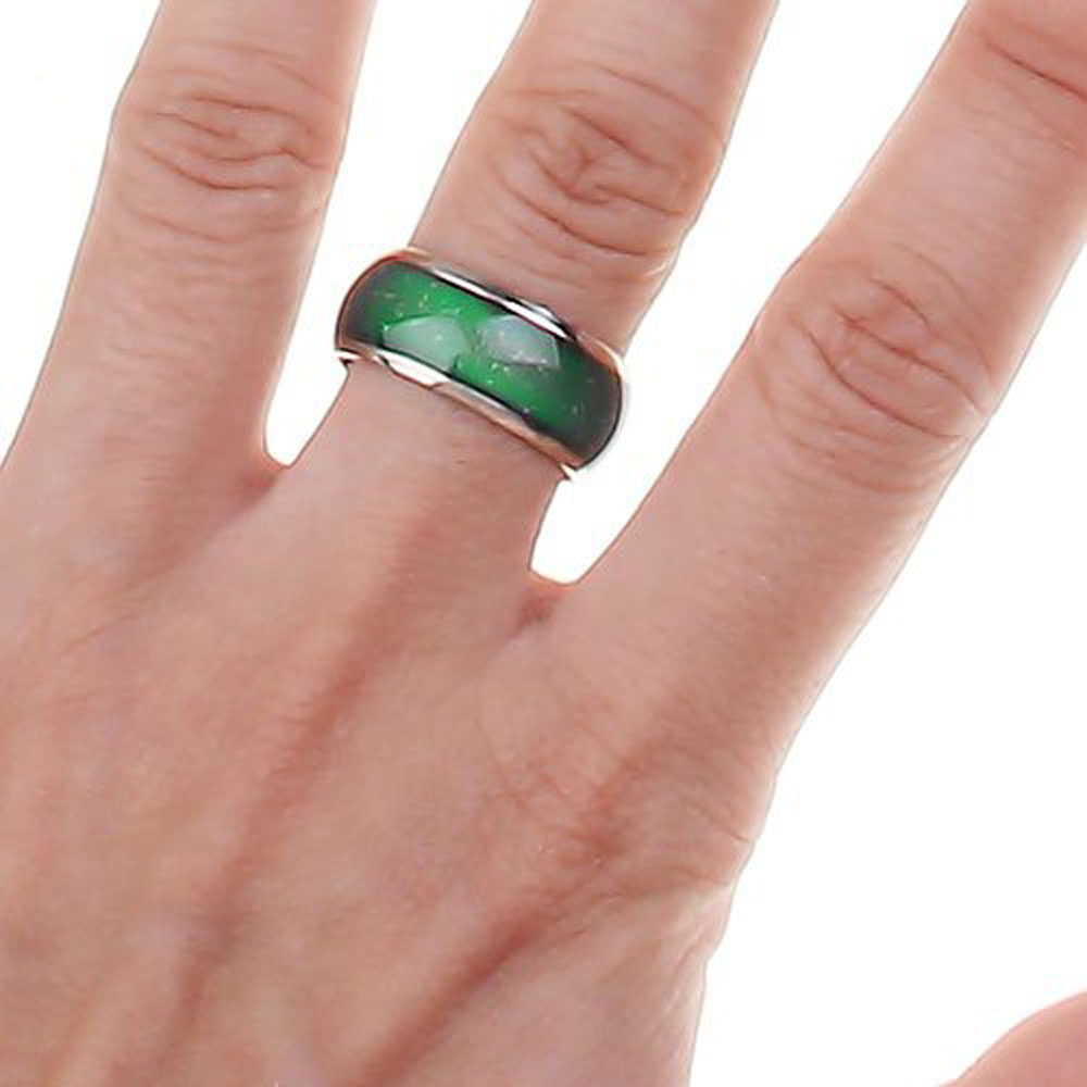 Emotion Feeling Mood Color Changeable Alloy Ring US Size 7 1/2 Wonderful Gift(China (Mainland))