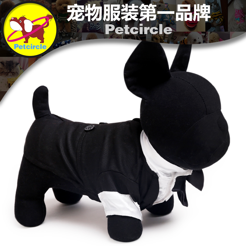 Petcircle Hot Sale Dog Suit Clothes The Groom Dress Pet Clothes Black Clothing For Pet In The Spring And Autumn Free Shipping(China (Mainland))