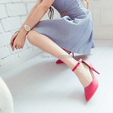 Hot 2014 New Arrived European beautiful colors gemstone two pieces OL stiletto meddle heels women pumps