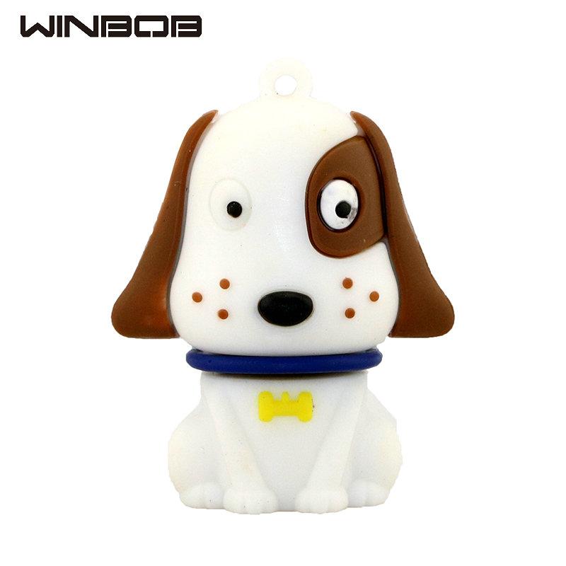 WINBOB pen drive cartoon cute Pug mini dog 2gb 4gb 8gb 16gb 32gb usb 2.0 flash drive memory stick pendrive free shipping(China (Mainland))