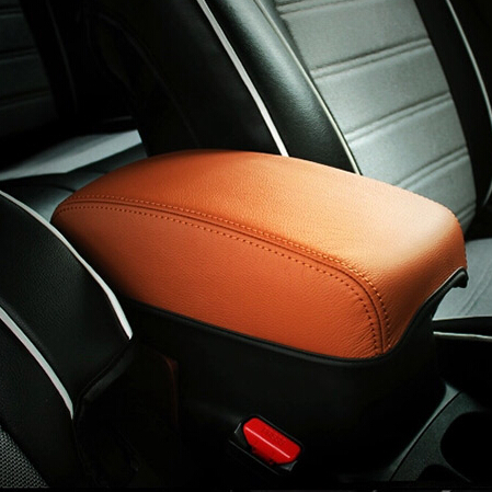 PU leather Car interior Armrest skin Cover Protection pad decorative trim car styling for Mitsubishi ASX Auto Accessories(China (Mainland))