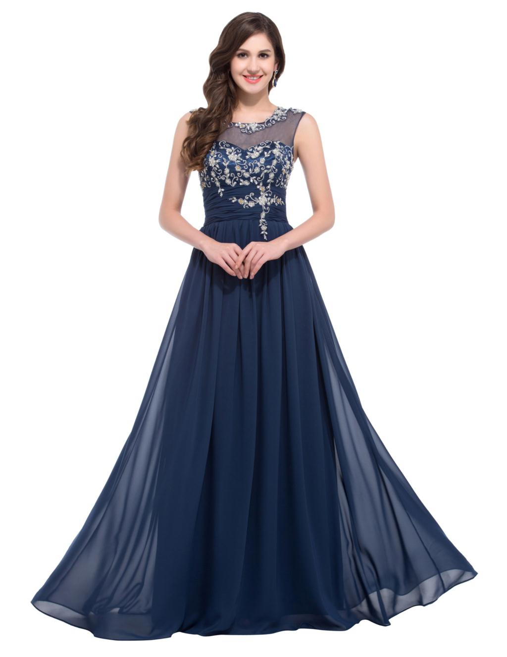 Grace Karin Evening Dresses Long 2016 Sleeve Beaded Lace