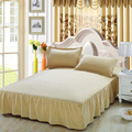 Night Tender solid embossed floral coverlet bed skirt pillow cases 3pcs sheet set double king full