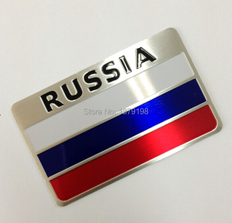 3D Aluminum Russia Flag car sticker accessories stickers ford focus chevrolet cruze kia rio skoda octavia volkswagen honda  -  Auto Sticker store