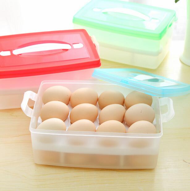 New Portable Plastic Double Egg Crisper Fridge Storage Box(2336)(China (Mainland))