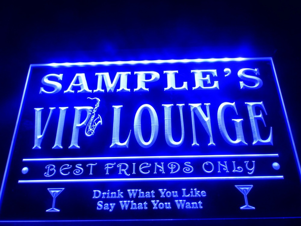 Dz039 name personalized custom vip lounge best friends only bar beer led neon light sign in for Decoration lounge bar nimes