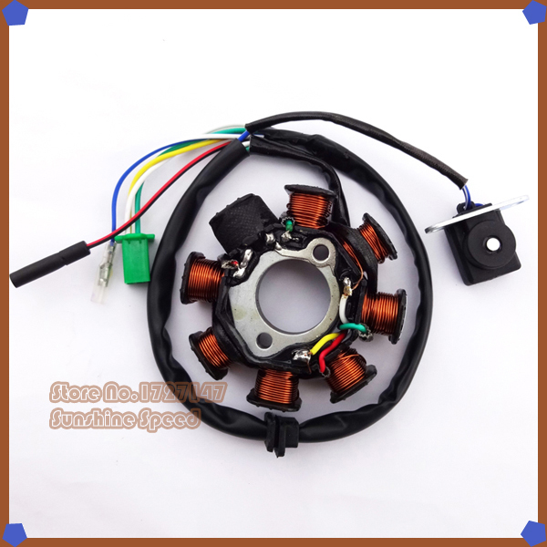 Coils Ignition Stator Magneto 8 poles For GY6 125cc 150cc Moped Scooter Quad ATV Go Kart Pit Dirt Bikes(China (Mainland))