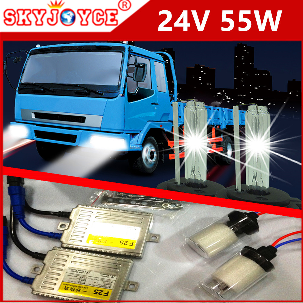 Fast Bright AC 55W xenon HID kit 24V truck hid xenon H11 H1 H3 H8 9005 H7 24V HID for IVECO ISUZU Truck Van Trailer Buses(China (Mainland))