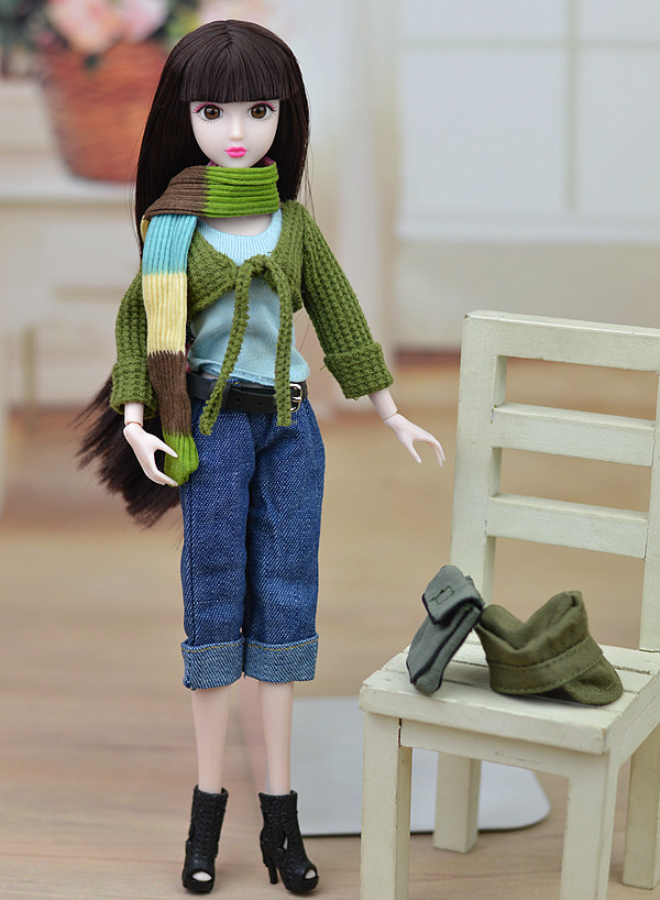 Restricted Version Unique Leisure Put on  / Inexperienced Sweater Coat Denims Scarf Doll Equipment Clothes Swimsuit For Kurhn Barbie Doll
