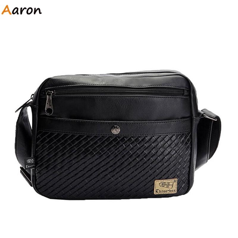 Aaron - Korean Trend Antique PU Stylish Messenger Bags For Men,Fashion Casual Male Shoulder bolsa,Multifunctional Crossbody bags(China (Mainland))