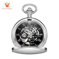 Top Brand Pocket Watch Mechanical Chain Skeleton Automatic Watch Necklace Design Fahion Pocket Fob Men Watch