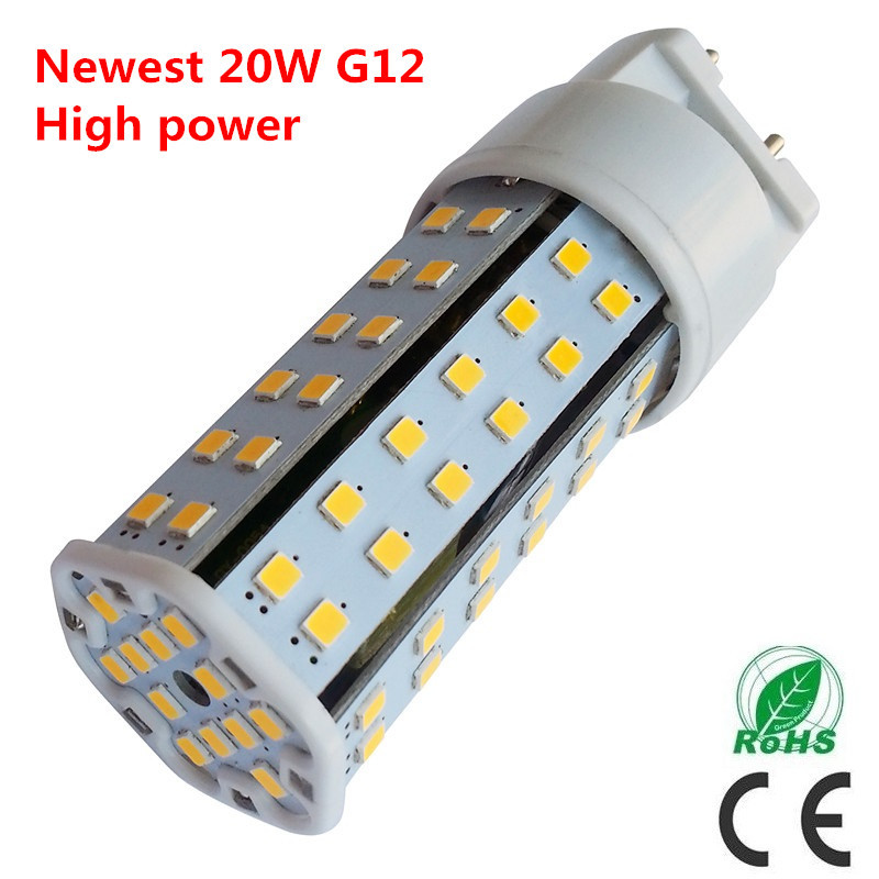 Free shipping High power 20W G12 led corn light 1240LM G12 led lamp replace 75W Metal halide lamp AC85-265V<br><br>Aliexpress