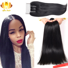 Peerless Peruvian Virgin Hair Straight with Closure 3pcs Peruvian Virgin Hair with Closure,Rosa Hair Products with Lace Closure(China (Mainland))
