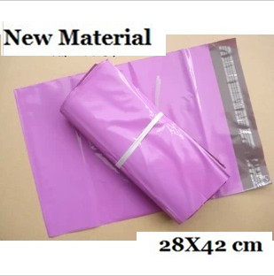 100PCS NEW [PINK] COLOR POLY MAILERS ENVELOPE SHIPPING BAGS 28x42cm Courier bags(China (Mainland))