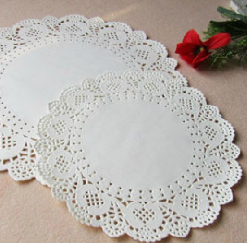 Free shipping,cake paper doilies,7.5inch=19cm, white round paper lace doilies/placemat,wedding tableware decoration(China (Mainland))