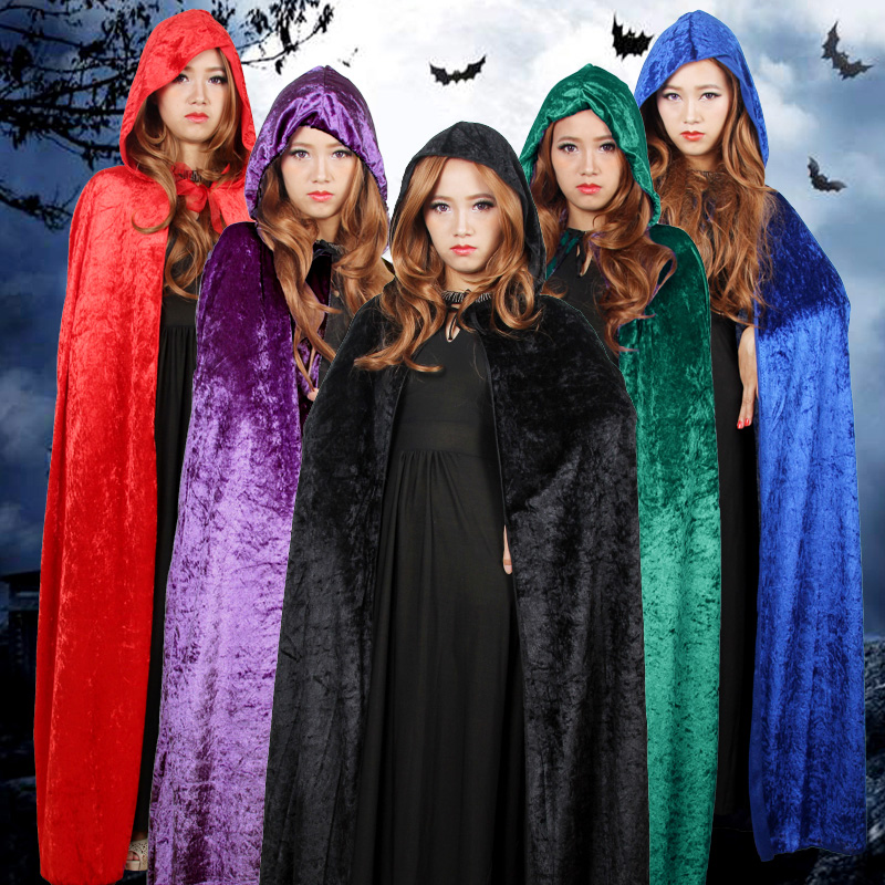 Free Delivery Death cloak vampire cape cosplay adult Halloween masquerade party activities props supplies Christmas Dress Up(China (Mainland))