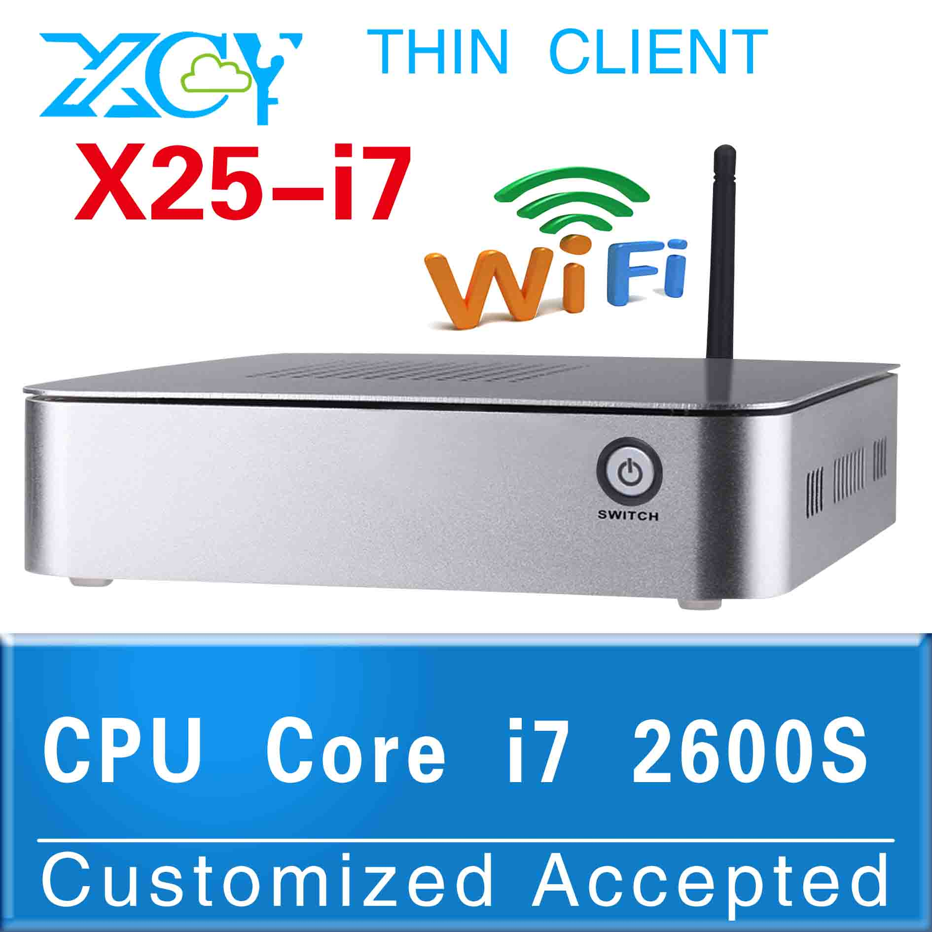 Factory ! X25-I7 2600S 2.8GHZ micro computer mini itx pc pc terminal support win 7 XP system(China (Mainland))