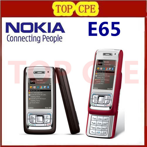 Refurbished E65 Original Nokia E65 Mobile Phones WIFI Bluetooth JAVA Unlock Cell Phone Free Shipping In Stock!!!(China (Mainland))