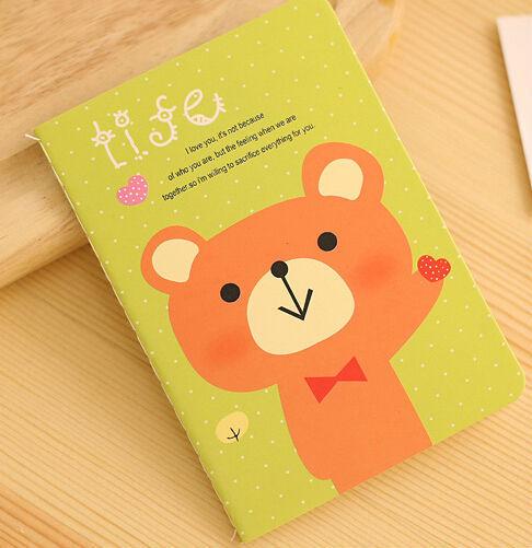 8pcs/lot Mini memo Pink Polar Bear Notebook Lined Diary Paper Notepad Love Cute Gift office supplies binder organizer(China (Mainland))