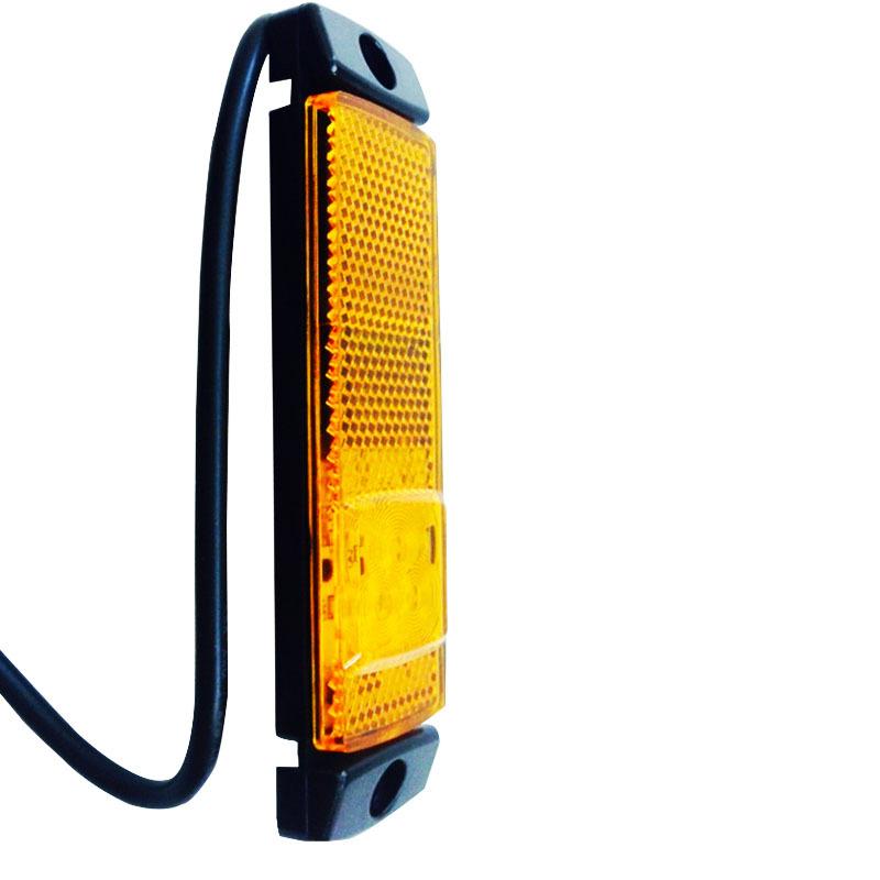 2X Amber LED Side Marker Light Clearance Lamp 10-32v E-marked Car Truck Trailer Wholesale(China (Mainland))