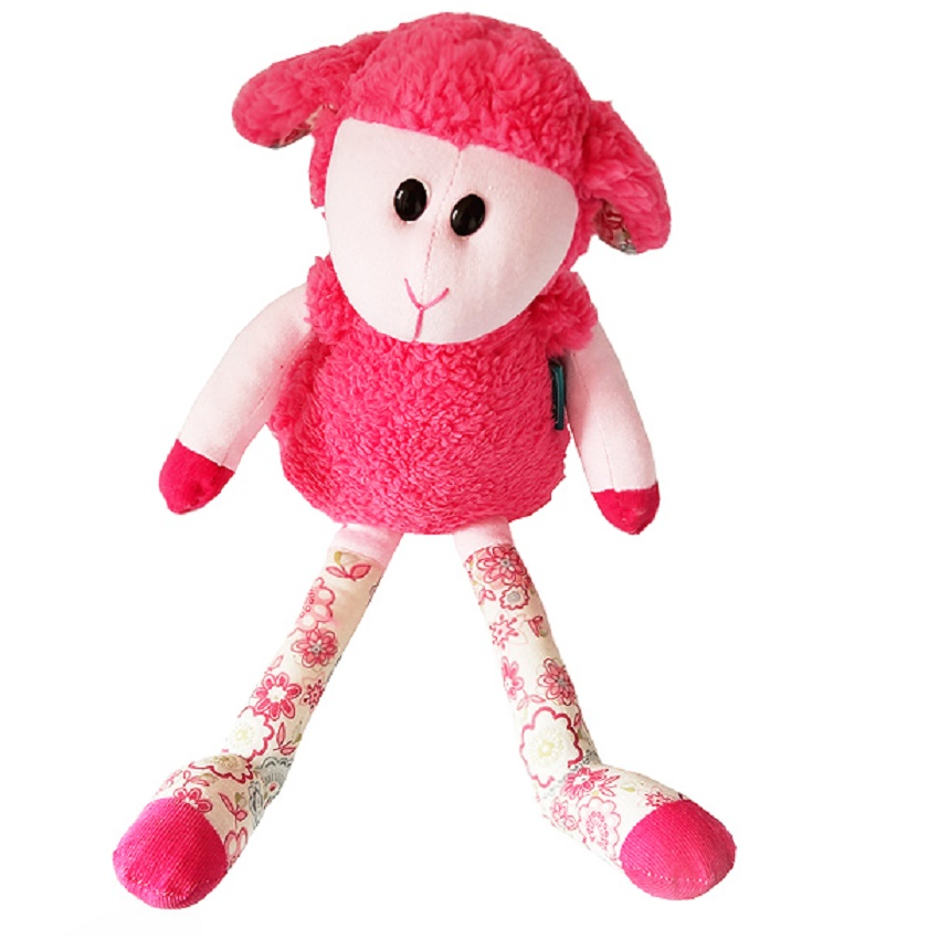 Lillipitiens Baby Plush Toys Lovely Sheep Dolls Cute Goat With Bells Stuffed Doll Baby Sleeping Doll 42cm(China (Mainland))
