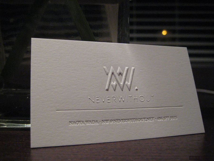300gsm Cotton Paper Embossed/Debossed Business Card Blink Letterpress Visit Card Personalzied Design 200pcs/Lot Free Shipping<br><br>Aliexpress