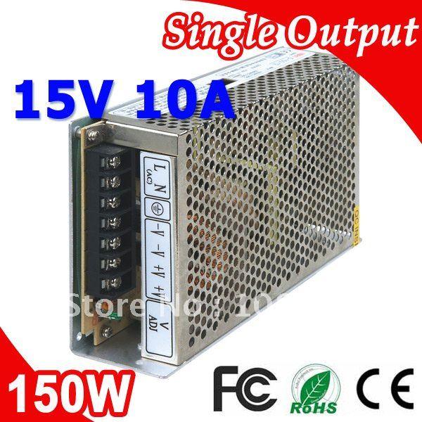 S-150-15 LED Switching Power Suply Transformer 150W 15V 10A Output AC-DC(China (Mainland))