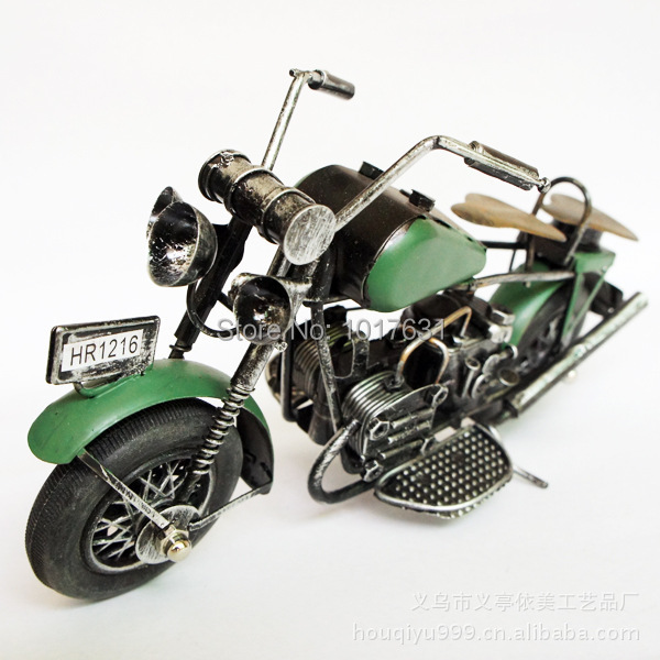Metal crafts iron motorcycle home office Decoration gifts M202 Green(China (Mainland))