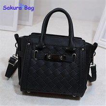 Trend women 2015 autumn handbag fashion knitted lock bag small shoulder bag messenger bags