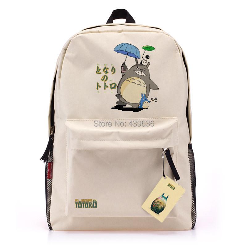 Super cute Totoro School Bags teenagers Rucksack anime bookbag men women Backpack shoulder bag student supplies mochila feminina(China (Mainland))