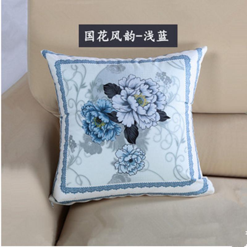 Cushion 45X45cm Europe printed flowers Pillow Sofa Chair throw Pillow Seat chair Back Cushion Gift blue red home textile decor(China (Mainland))